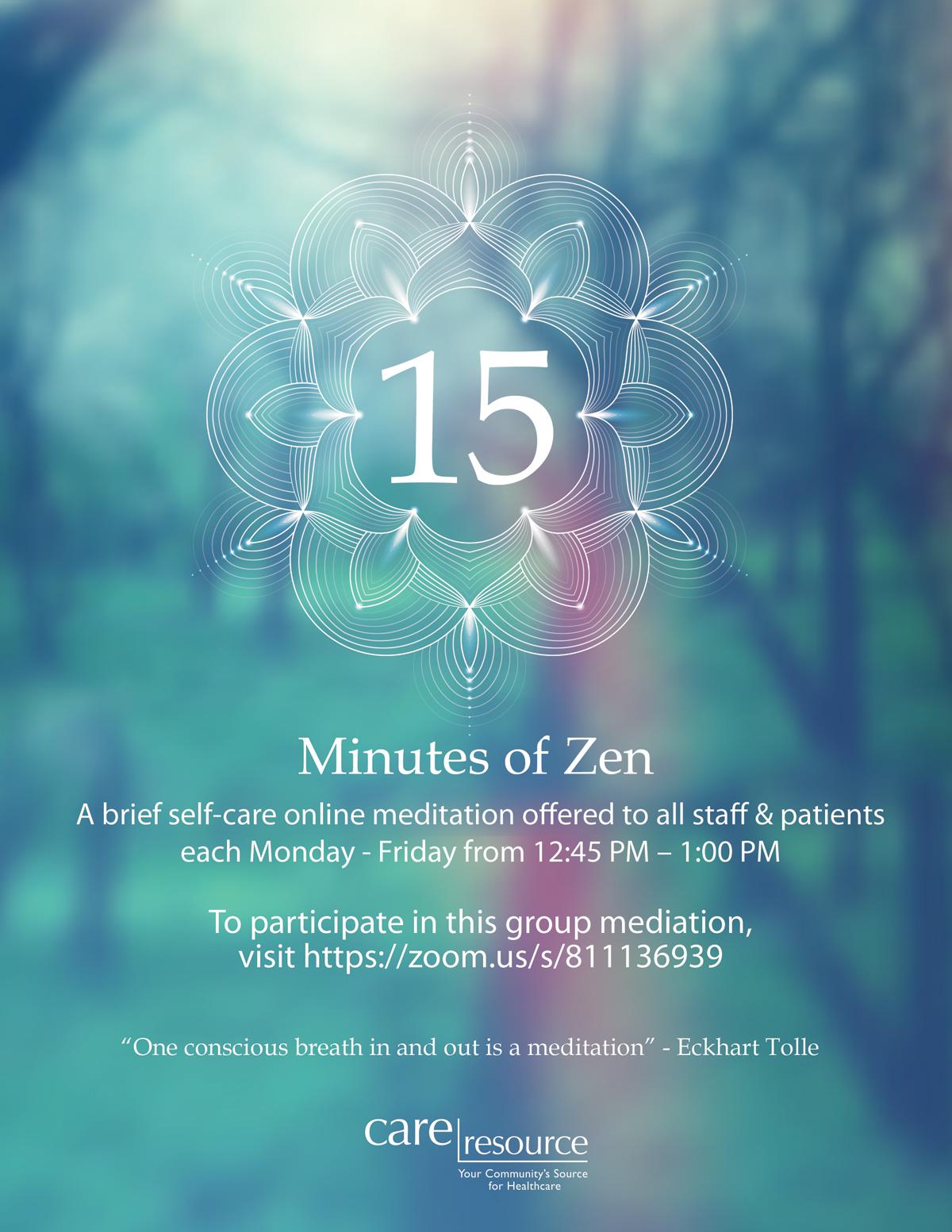 15 Minutes of Zen